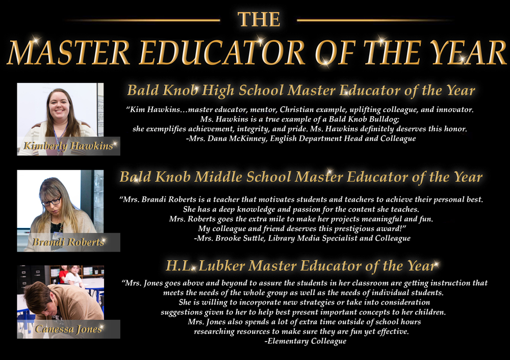 Bald Knob Announces Educators of the Year