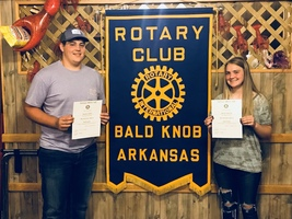 Rotary Student of the Month for October