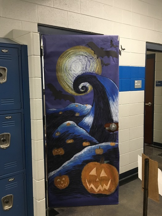Teacher door decorated